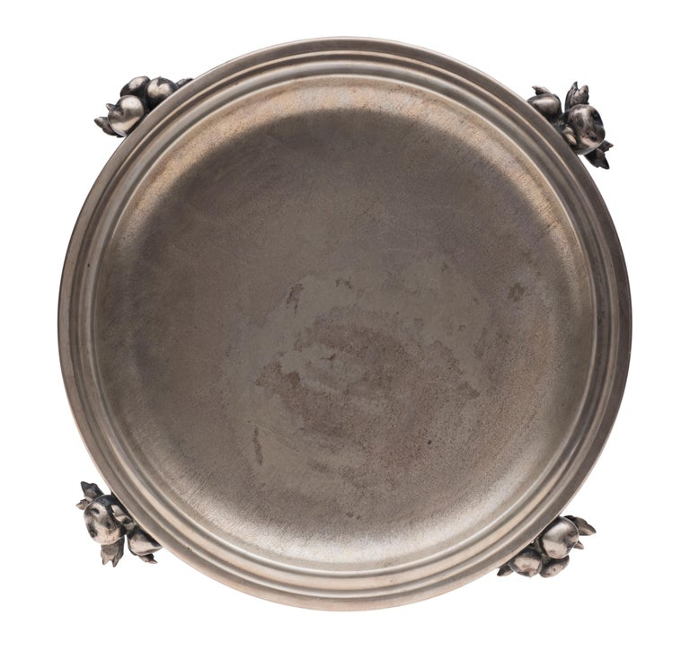 Vintage Silver Centrepiece and Tray by Luigi Genazzi, 1934-1944 In Good Condition For Sale In Roma, IT