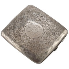 Vintage Silver Cigarette Case, Manufactured in England by Joseph Gloster Ltd.