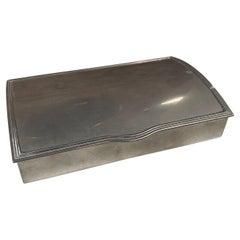 Vintage Silver Decorative Box, Italy, 1960s