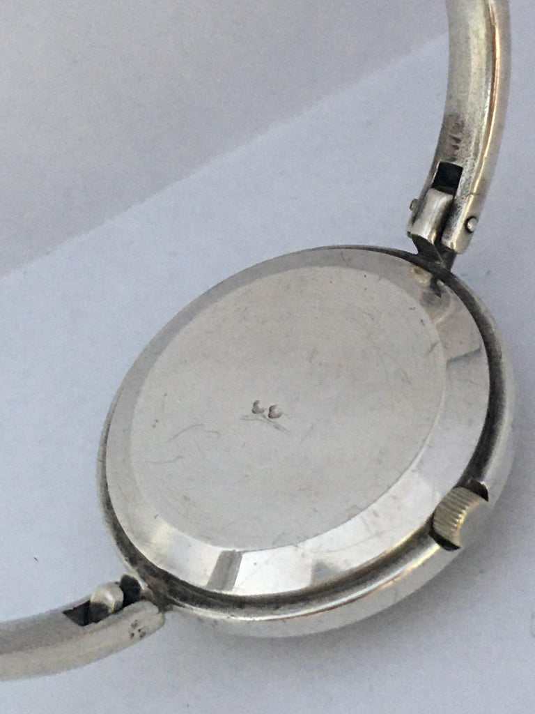 Vintage Silver Fred Ladies Mechanical Watch For Sale 6