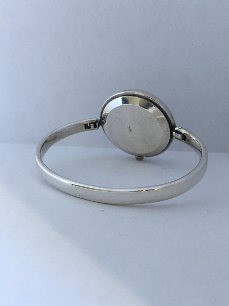 Vintage Silver Fred Ladies Mechanical Watch For Sale 7