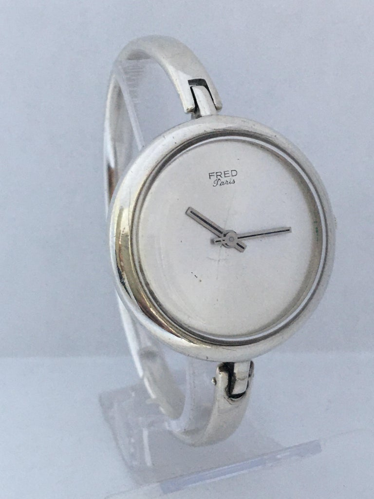 Vintage Silver Fred Ladies Mechanical Watch For Sale 8
