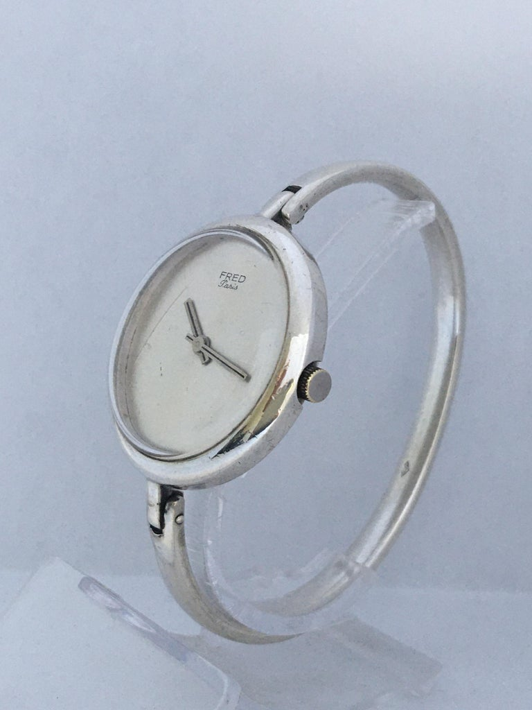 Vintage Silver Fred Ladies Mechanical Watch For Sale 9