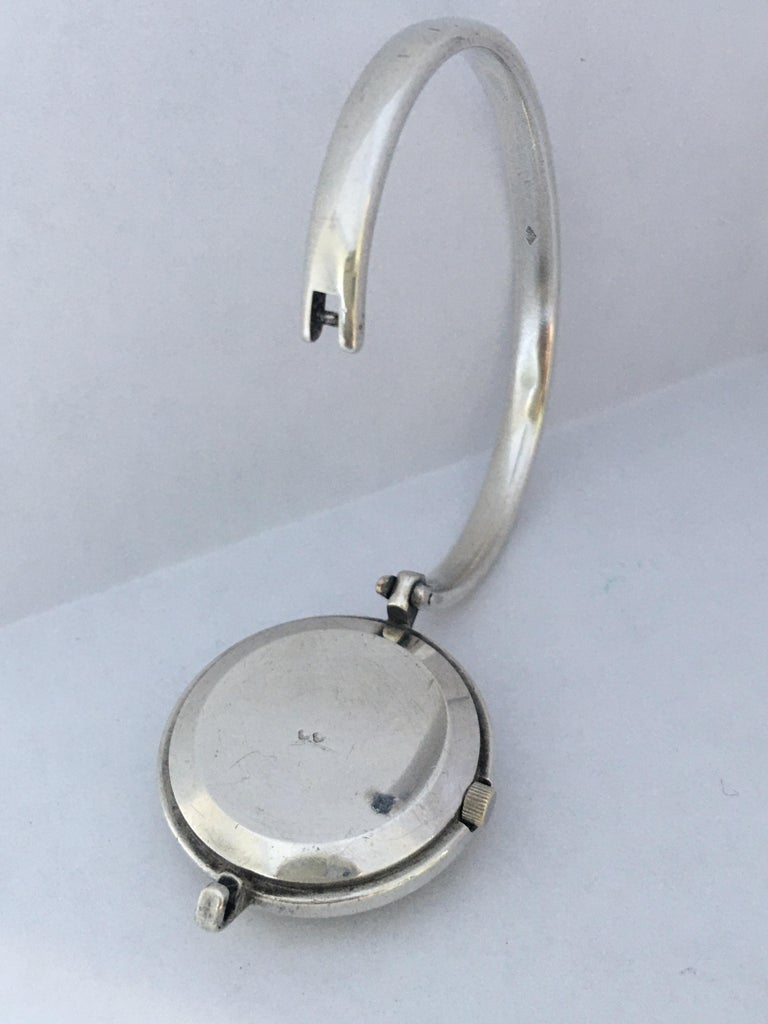 Women's or Men's Vintage Silver Fred Ladies Mechanical Watch For Sale