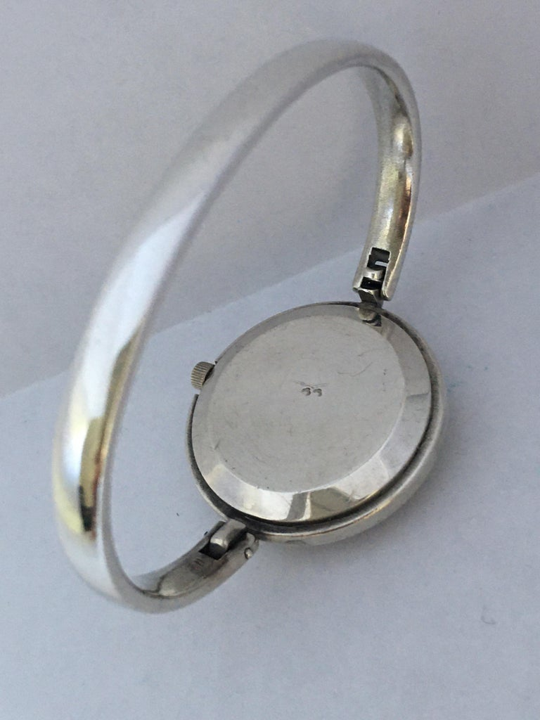 Vintage Silver Fred Ladies Mechanical Watch For Sale 2