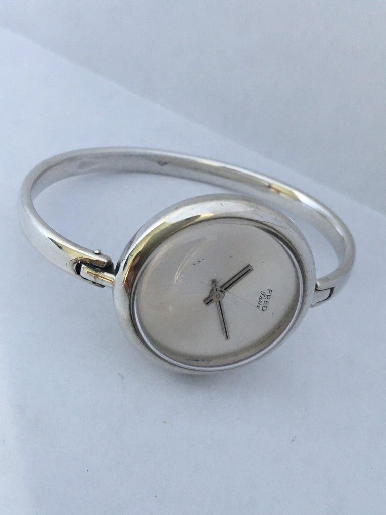 Vintage Silver Fred Ladies Mechanical Watch For Sale 3