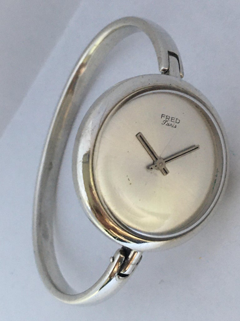 Vintage Silver Fred Ladies Mechanical Watch For Sale 4