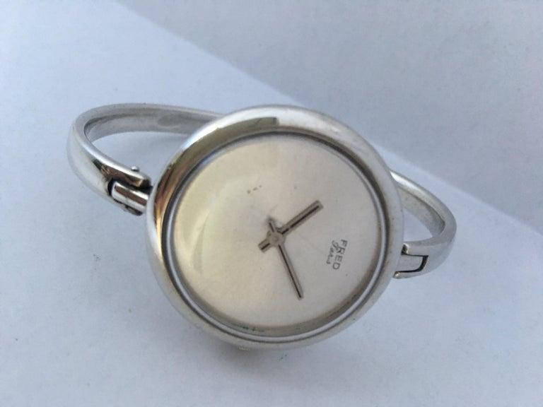 Vintage Silver Fred Ladies Mechanical Watch For Sale 5