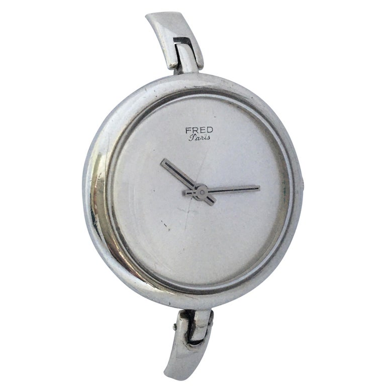 Vintage Silver Fred Ladies Mechanical Watch For Sale