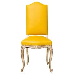 Vintage Silver Gilt Louis XV Chair