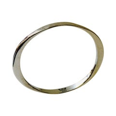 Vintage Silver Hand-Hammered Armring by Tone Vigeland, Plus, Norway, 1960s