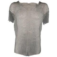 Vintage Silver Metal Link Medieval Chainmail Armor Shirt