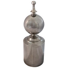 Vintage Silver Metal Round Finial