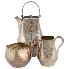 Vintage Silver Moka Set by William Hutton & Sons, England, Early 1900