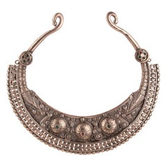 Vintage Silver Necklace, Afghanistan, Early 20th Century
