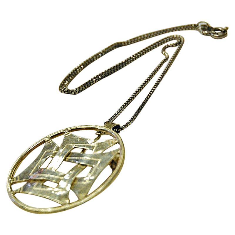 Vintage Silver Necklace or Brooch by Smycka Kumla, Sweden, 1979