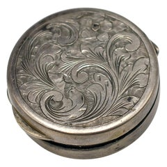 Vintage Silver Pillbox, Italy, 20th Century