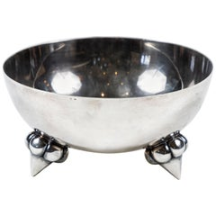 Vintage Silver Plate Bowl w/ Highly Stylized Feet, France