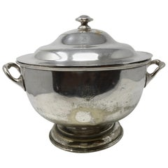 "Vintage Silver Plate Silver Soldered Soup Tureen, ""Ind Coope Hotels"""