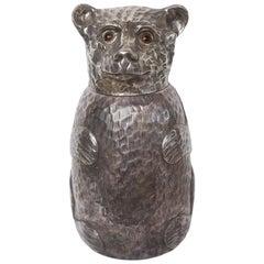 Vintage Silver Plate Teddy Bear Ice Bucket