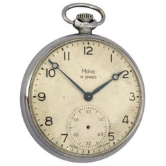 Vintage Silver Plated Mechanical Dress Pocket Watch