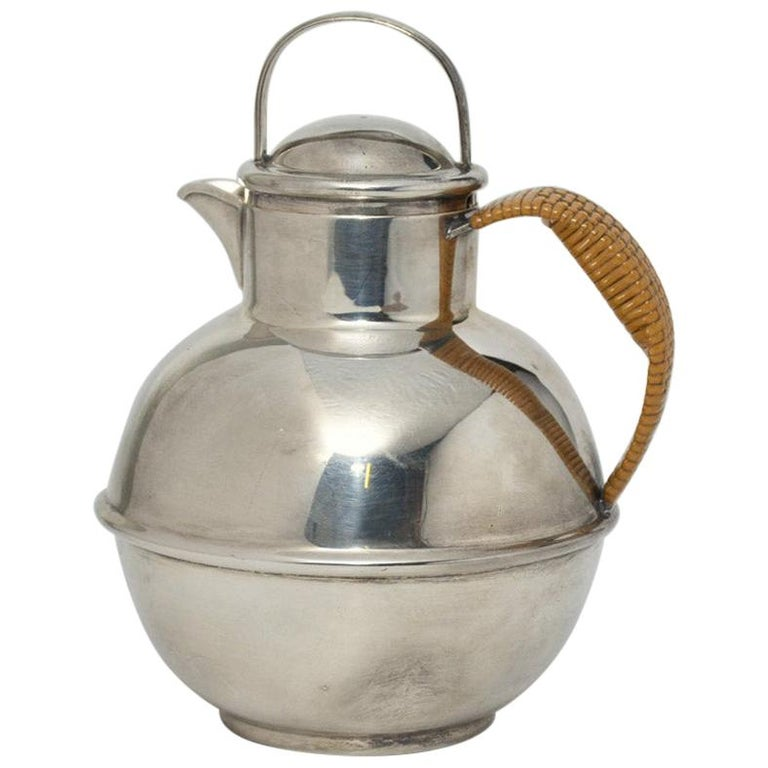 Vintage Silver Plated Tea Pot with Lid For Sale