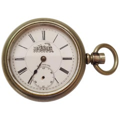 Vintage Silver RR Special Pocket Watch, Chronograph, Case, Railroad Design