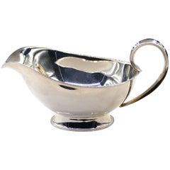 Vintage Silver Saucière Italian Manufacture, 1950s