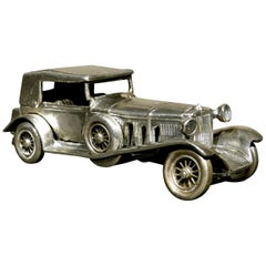 Vintage Scale Model of The 1928 Mercedes Benz SS in German Silver, Circa 1950