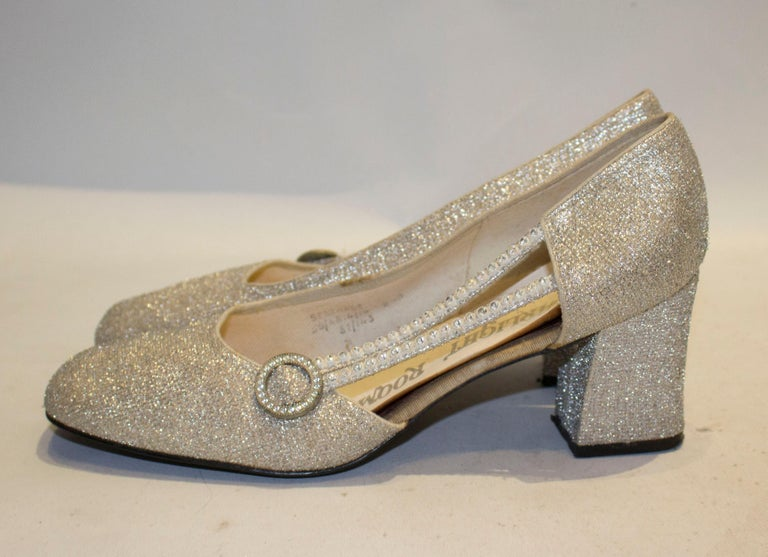 Women's Vintage Silver  Shoes by Starlight Room For Sale