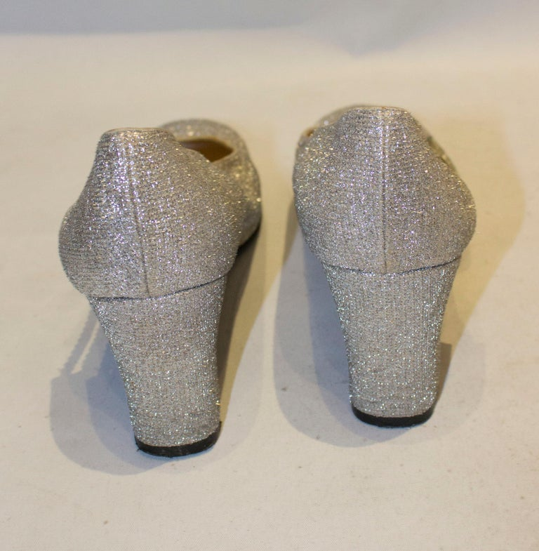 Vintage Silver  Shoes by Starlight Room For Sale 1