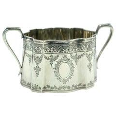 Vintage Silver Sugar Bowl, 20th Century