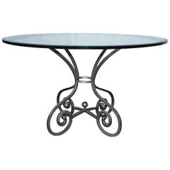Vintage Silver Toned Pedestal Table Base