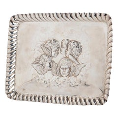 Vintage Silver Tray by March Brothers, England, 1905
