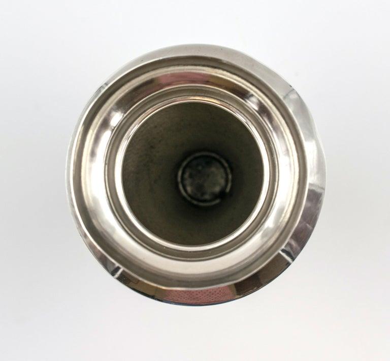 Repoussé Vintage Silver Vase, Italy, Mid-20th Century For Sale