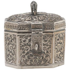 Vintage Silverplate Box, India, Early 20th Century
