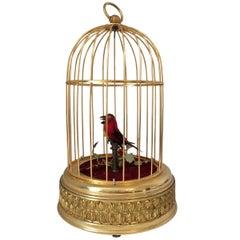 Vintage Singing Bird Cage