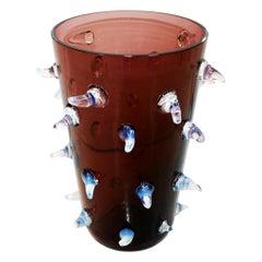 Vintage Single Italian Vase Made of Purple Murano Art Glass, 1970s