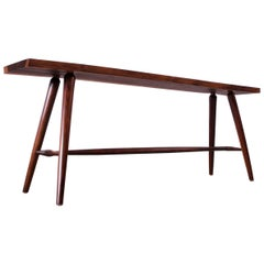 Vintage Sissoo Live Edge Hall Table / Bench