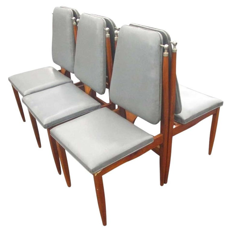 Vintage Six '6' Italian Dining Chairs For Sale