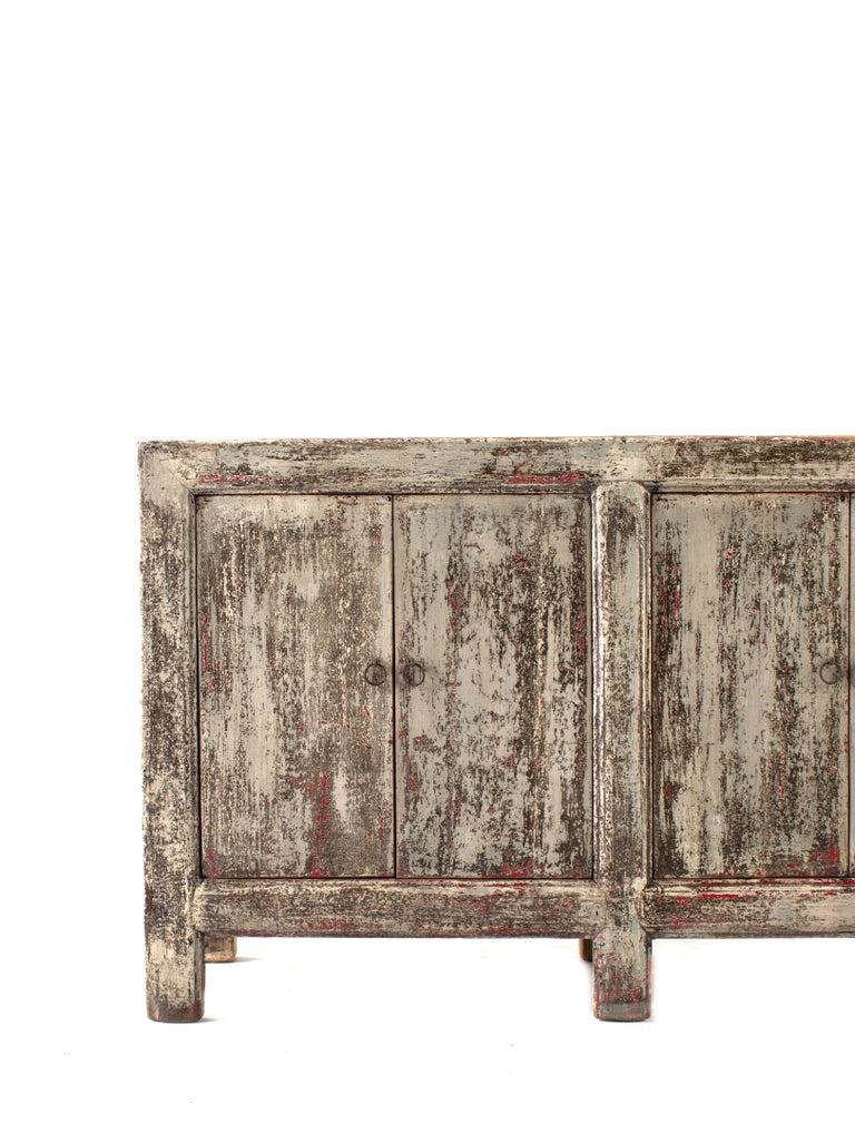 Vintage six-door server in original patina.