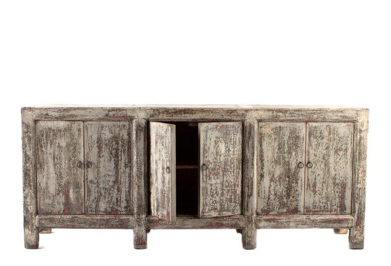 Vintage Six-Door Server in Original Patina, Elm For Sale 2