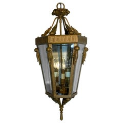 Vintage Six Sides Indoor Elegant Hanging Lantern Chandelier