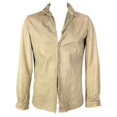 VINTAGE Size 42 Size L Beige Leather Jacket