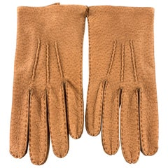VINTAGE Size 9 Tan Pigskin Leather Gloves