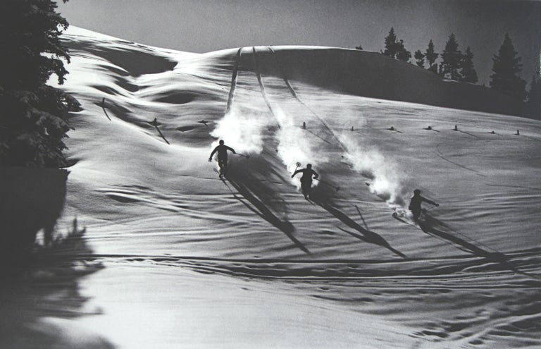 Vintage Ski Photography, antique Alpine Ski Photograph.