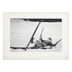 Vintage Ski Photography, Antique Alpine Ski Photograph