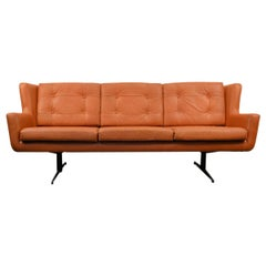 Vintage Skjold Sørensen Leather 3-Seat Sofa