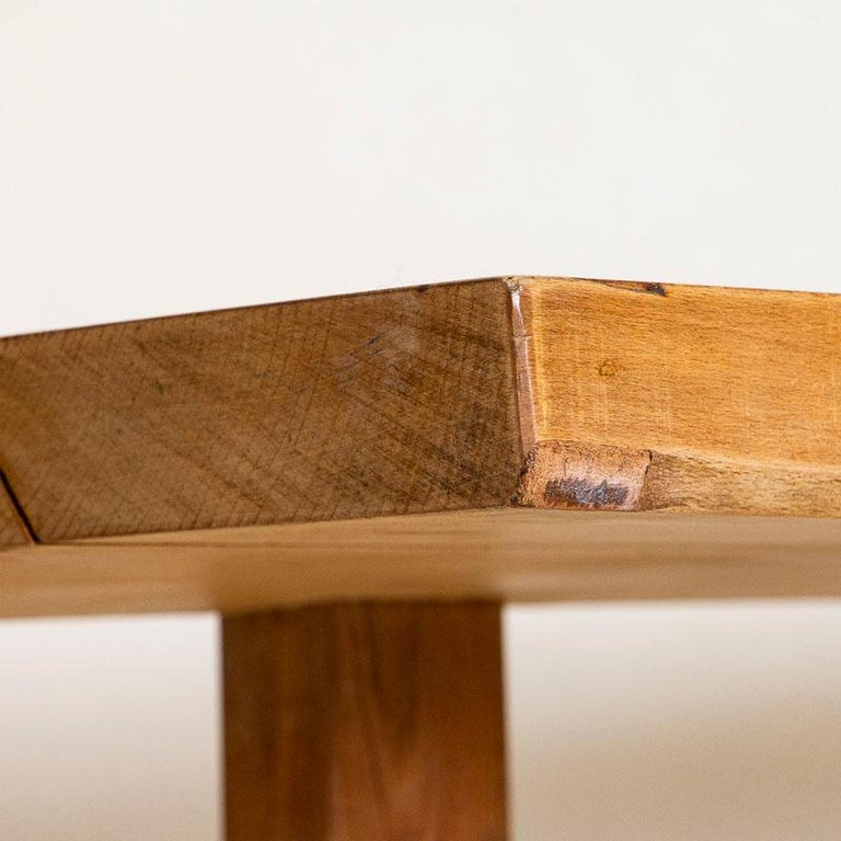 Vintage Slab Wood Console Table For Sale 1