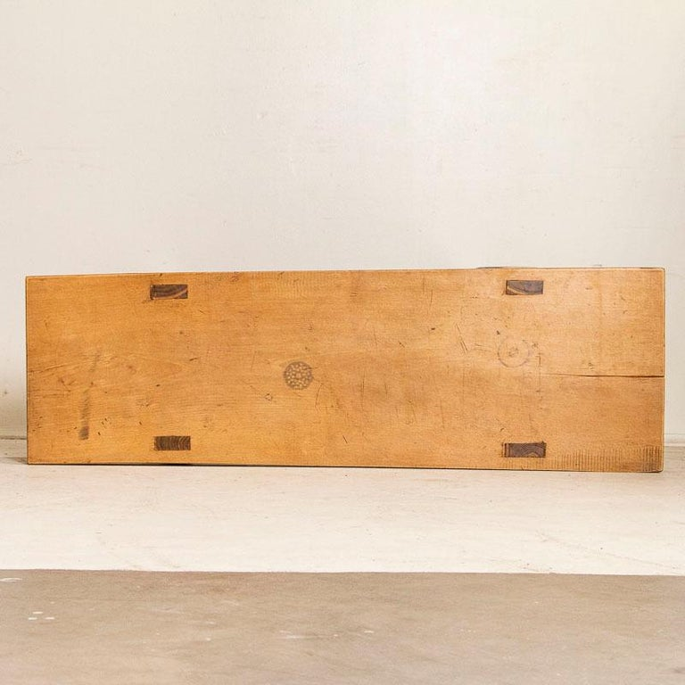 Vintage Slab Wood Console Table For Sale 3